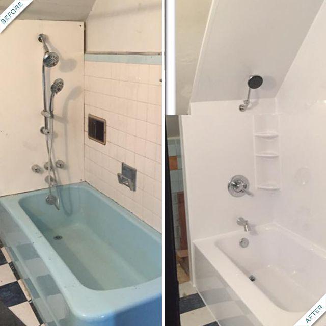 результат очищения ванной комнаты