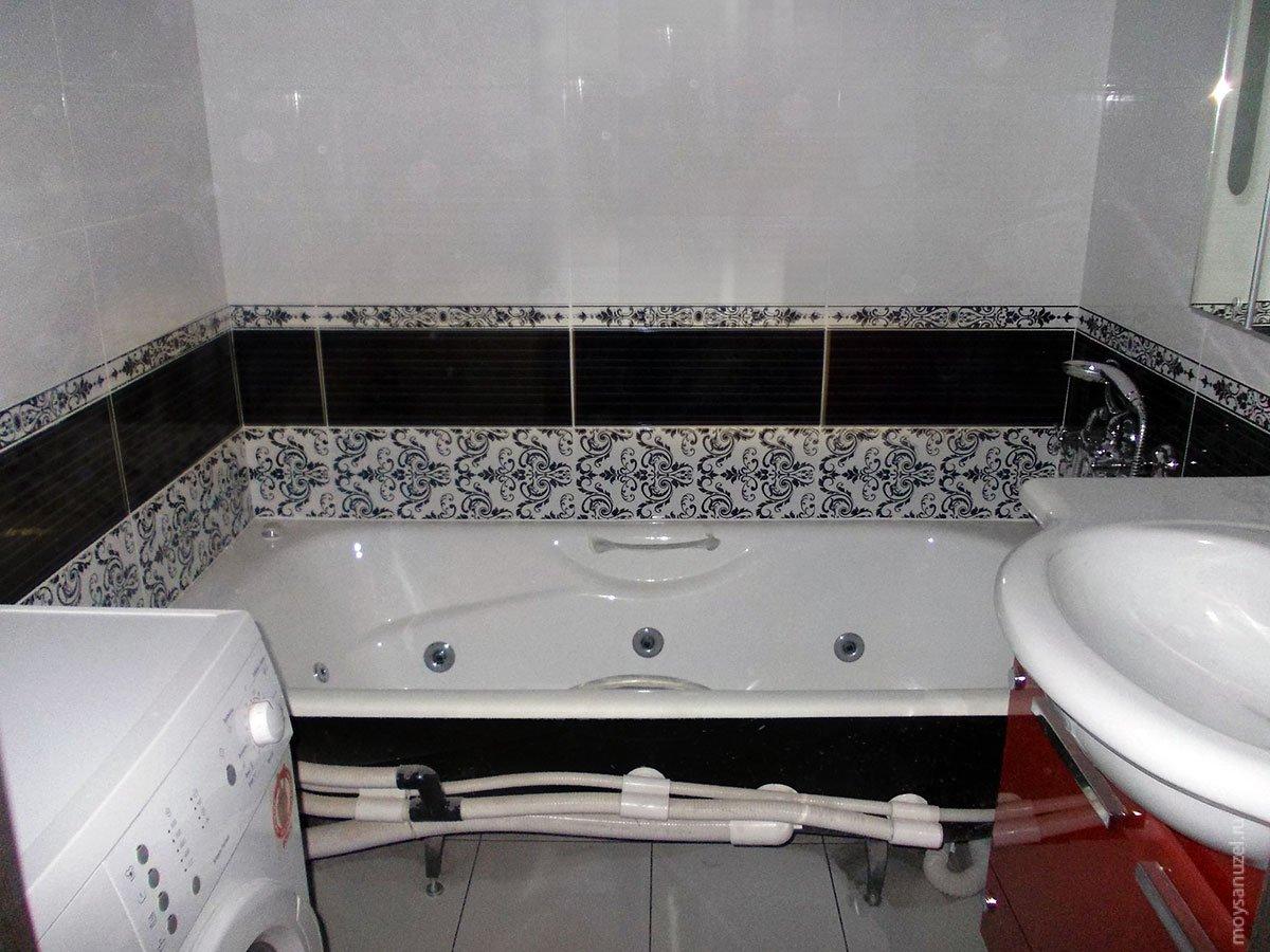 чистим кафель и ванну