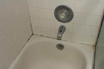 вид ванны до чистки
