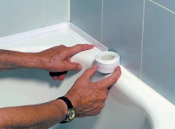 Бордюрная лента в ванной