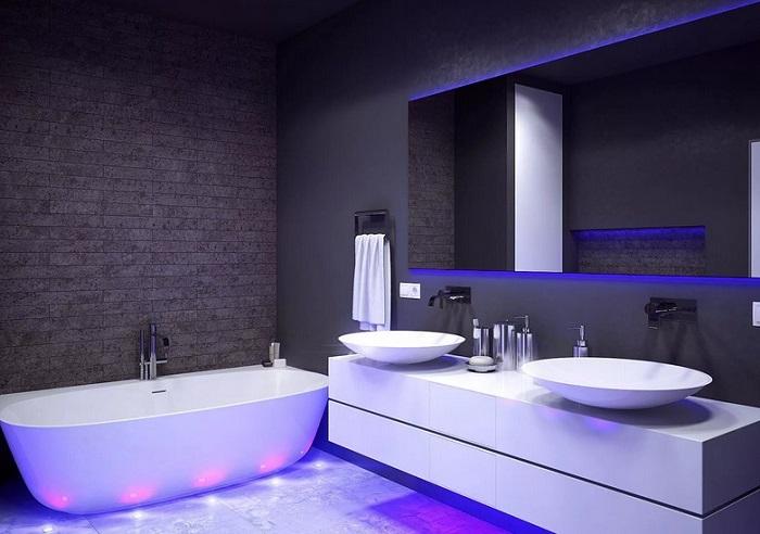 Дизайн ванной хай-тек