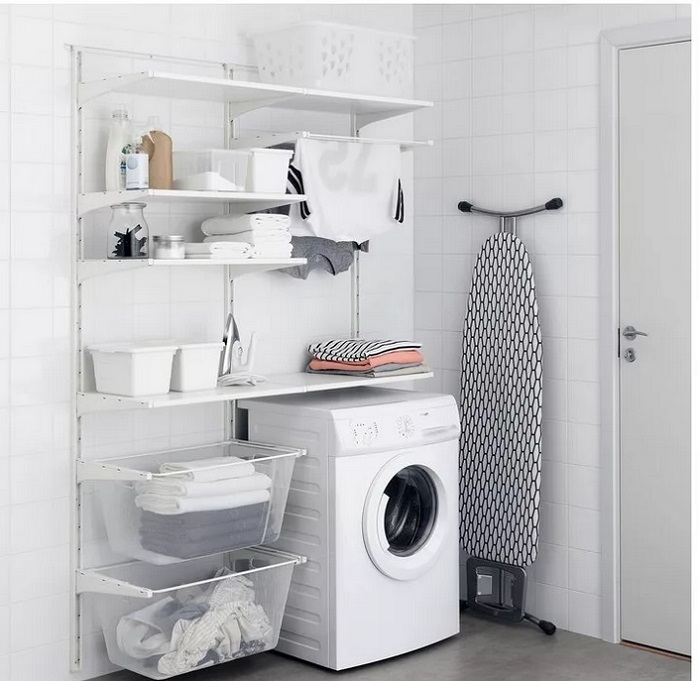 Дизайн ванной система хранения