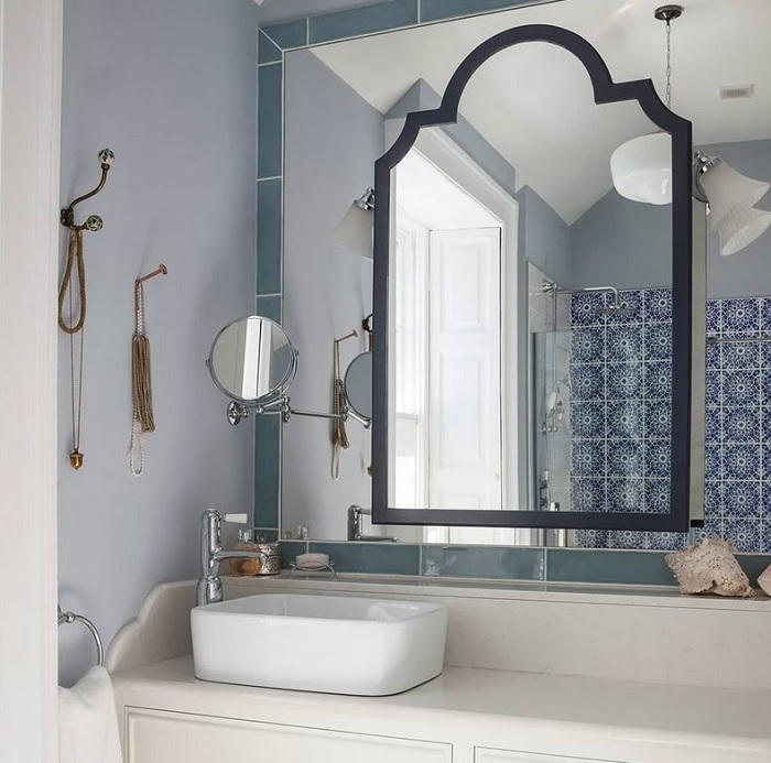 Дизайн ванной зеркала