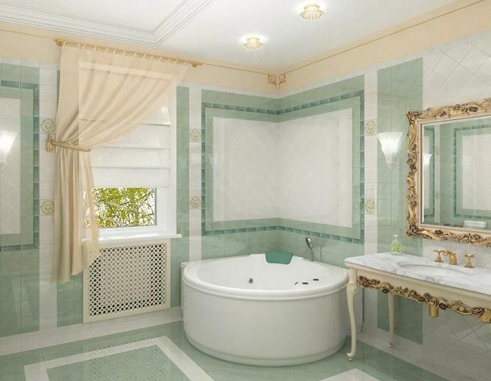 Элитный ремонт ванной в коттедже