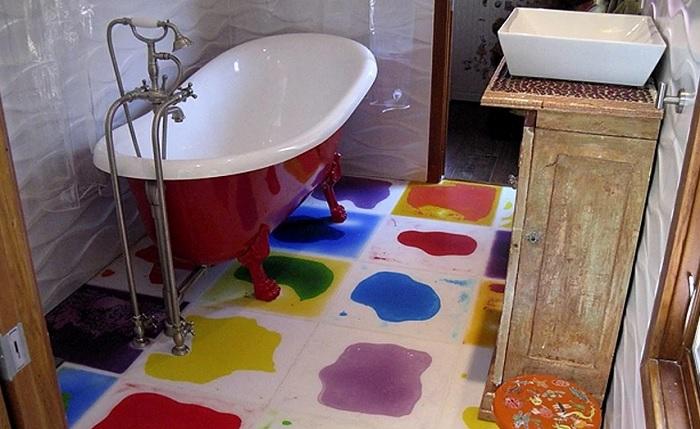 Живая плитка в ванной