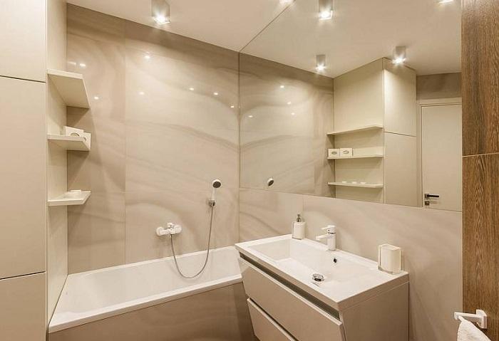 как расширить пространство ванной