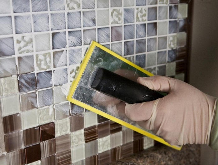 Отделка мозаикой санузла в Москве