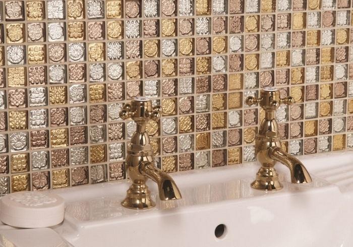 Отделка мозаикой ванной комнаты