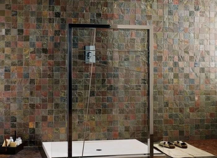 укладка плитки под мозаику каменной