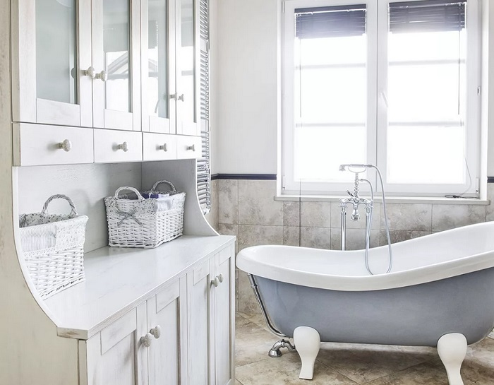 Стиль прованс в ванной мебель
