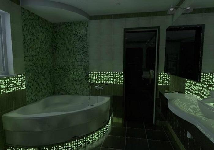 Ремонт ванной комнаты люминисцентные краски