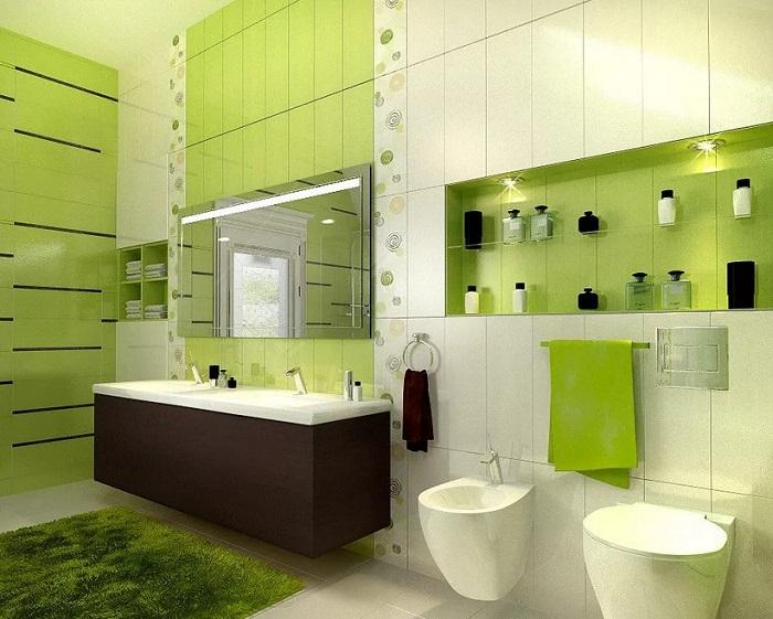 ремонт ванной зеленый