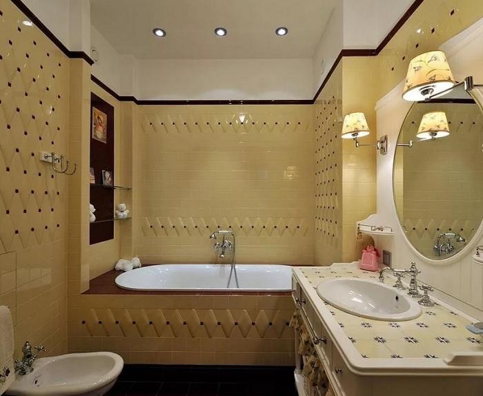 Ремонт ванной комнаты в коттедже