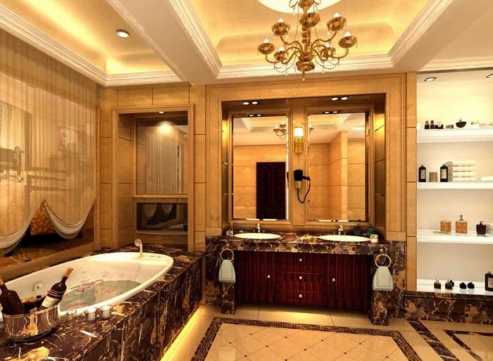 Ремонт ванной в коттедже