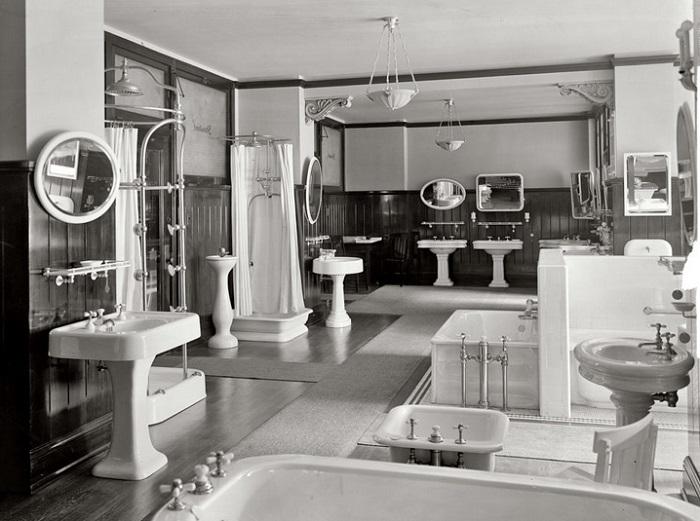 ретро ванная комната