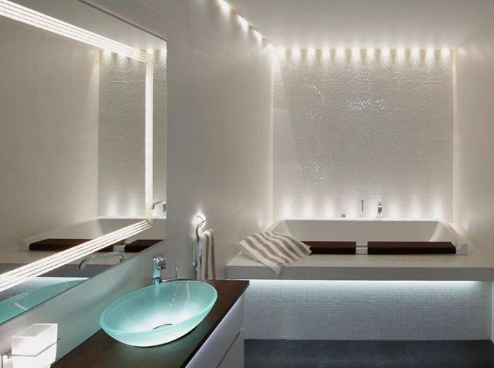 Светодиодное освещение ванной под ключ
