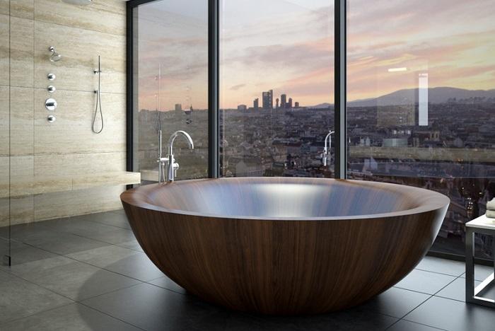 ванна из дерева монтаж