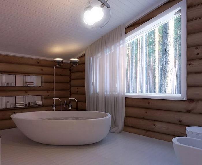 ванная в деревянном доме в москве