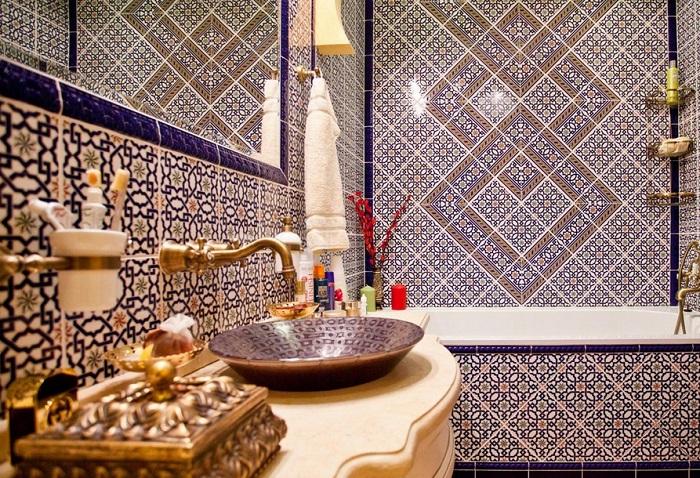 ванная в марроканском стиле