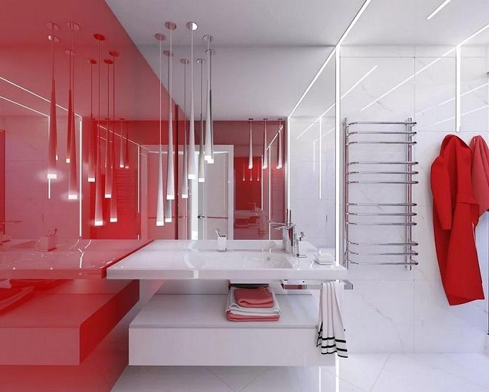 ванная комната в стиле хайтек