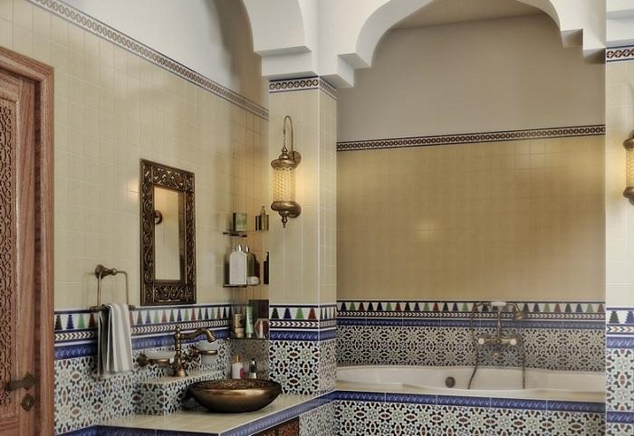 ванная комната в марроканском стиле